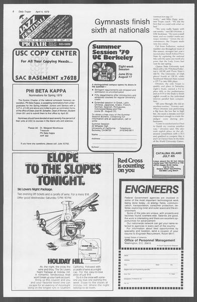 Daily Trojan, Vol. 76, No. 38, April 04, 1979