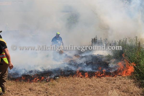 6/21/16 - Leslie grass fire, southbound US-127 & Covert Rd