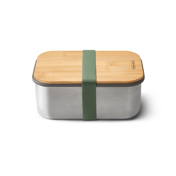 Stainless Steel Sandwich Box Large olive Black Blum