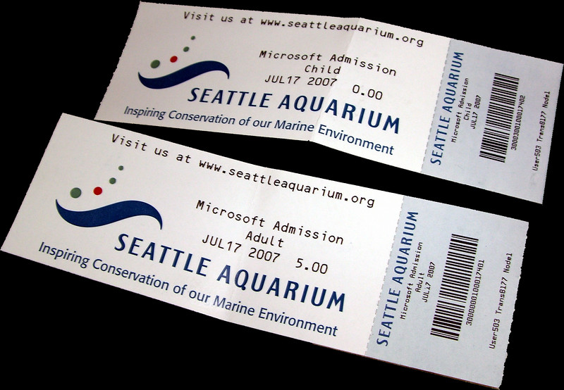 Our tickets. Not sure why I took a picture, but here it is...oh well.