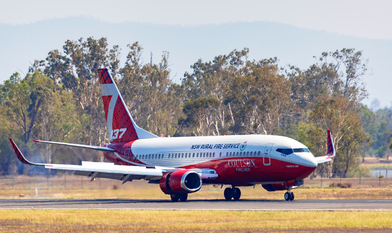 NSW Rural Fire Service Boeing 737-3H4 Water Bomber at Rockhampton Airport