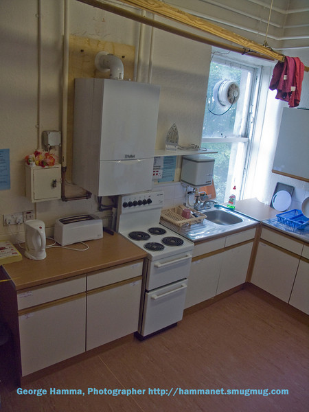 Kitchen of the student flat.