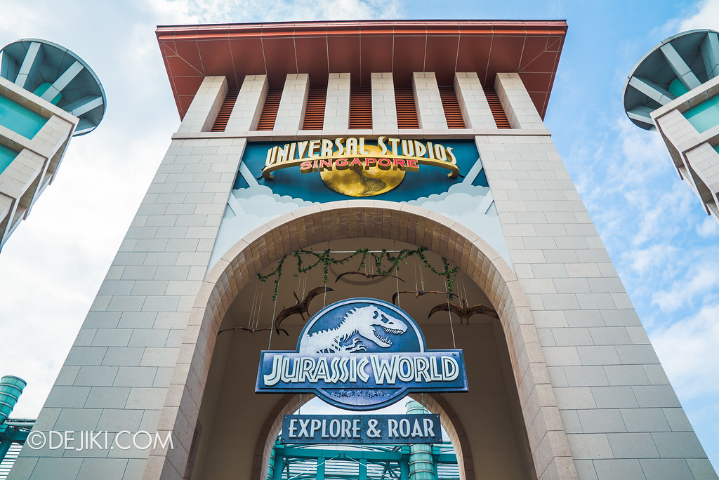 Universal Studios Singapore Park Update - Jurassic World Park Entrance