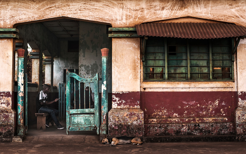 Abandoned train station.  Moshi, Tanzania 2019.