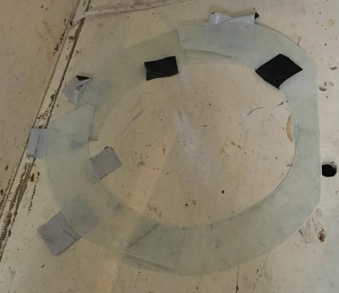 Dam for epoxy cone
