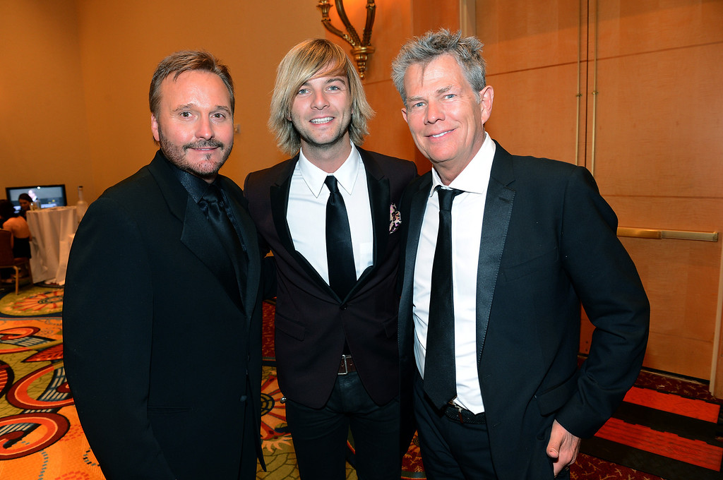 . PHOENIX, AZ - MARCH 23: (L-R) Narvel Blackstock, singer Keith Harkin, and Producer David Foster attend Muhammad Ali\'s Celebrity Fight Night XIX at JW Marriott Desert Ridge Resort & Spa on March 23, 2013 in Phoenix, Arizona.  (Photo by Michael Buckner/Getty Images for Fight Night)