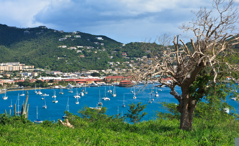 View of Charlotte Amalie from Hassel Island, St Thomas