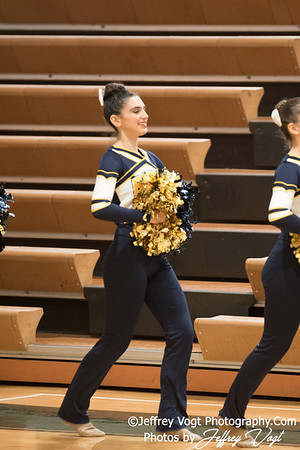 1-13-2018 Bethesda Chevy Chase HS at Damascus HS Poms Invitational Division 2, Photos by Jeffrey Vogt Photography