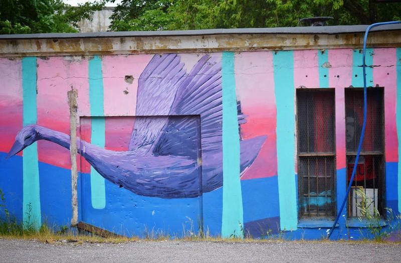Tallinn, Estonia: mural, Tallinn Creative Hub