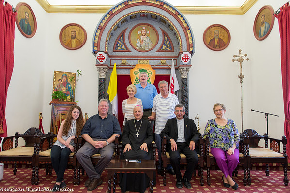 Visit to Caritas Office and with Bishop of Jerusalem