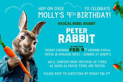 molly's 9th birthday party
