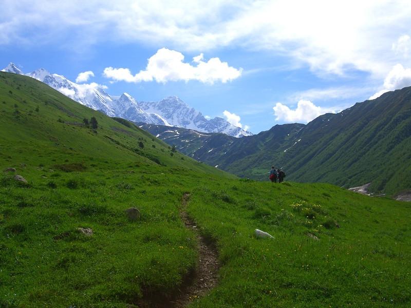 Green Pastures and Mountainscapes - Svaneti, Georgia
