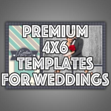 Premium 4x6 Templates For Weddings