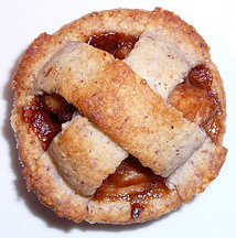 Almond-Crusted Vino Cotto Apple Tart  Recipe and photo by Montillo Italian Foods, copyright January 12, 2011