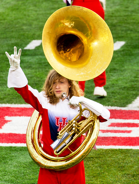 The only unpolished tuba in the band.  By accident or by design?