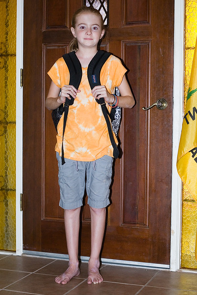 Sarah's First Day of School - 6th Grade