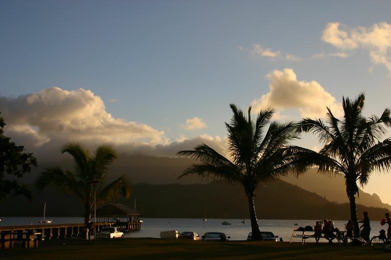 Sunset at Hanalei Bay
