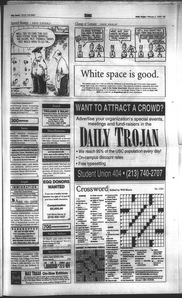 Daily Trojan, Vol. 136, No. 12, February 02, 1999