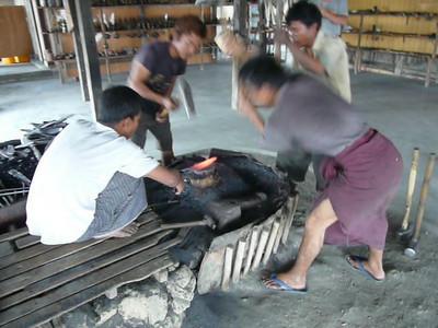 Myanmar Inle Lake Blacksmiths