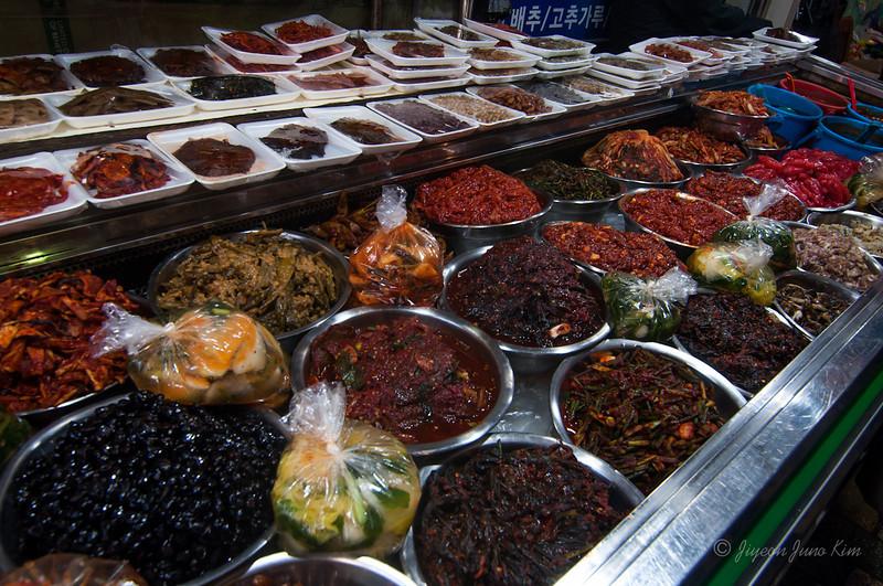 Banchan (side dish) at the market