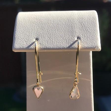 .47ctw Pear Flat Cut Diamond Drops