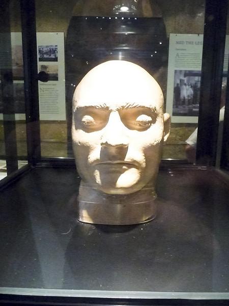 Melbourne - Old Melbourne Gaol - Ned Kelly death mask