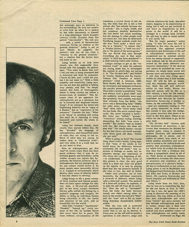NYT R. D. Laing book review 1970