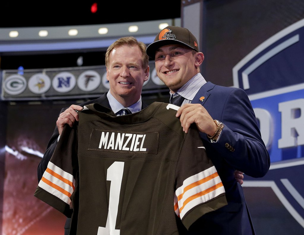 . <b>1. JOHNNY MANZIEL </b> <p>If this public humiliation and exile in Cleveland doesn�t wipe that smug look off his face, nothing will. <p>   (AP Photo/Craig Ruttle)