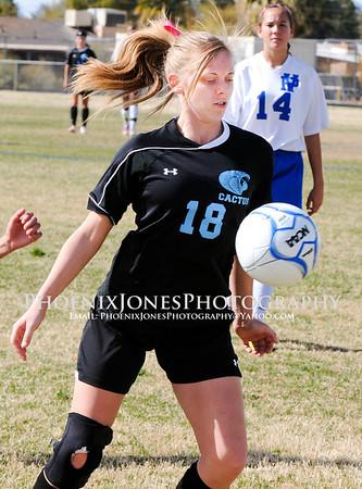 2-2-13 - Cactus vs Palo Verde - Girls Soccer Quater Final Playoffs