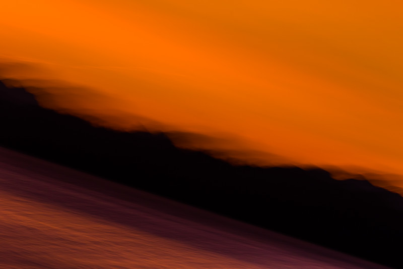 Ripples of orange abstract waves