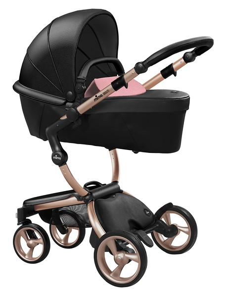 Mima_Xari_Product_Shot_Black_Flair_Rose_Gold_Chassis_Pixel_Pink_Carrycot.jpg