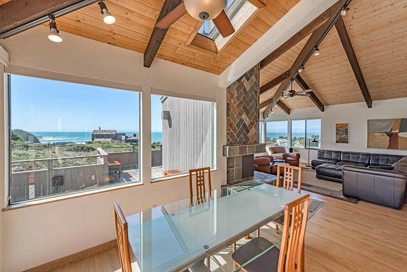 Dining Room with White Water Views
