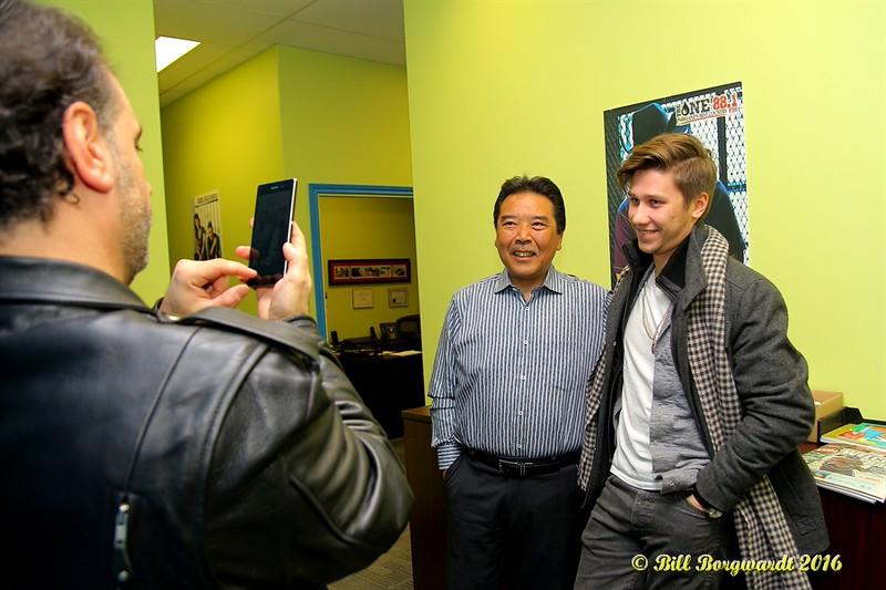 Anthony Farrauto, Sony Music Canada, with Mark Tamagi & Jesse Mast at 88.1 The One - Parkland County 044