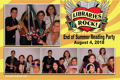 Libraries Rock! End of Summer Reading Party