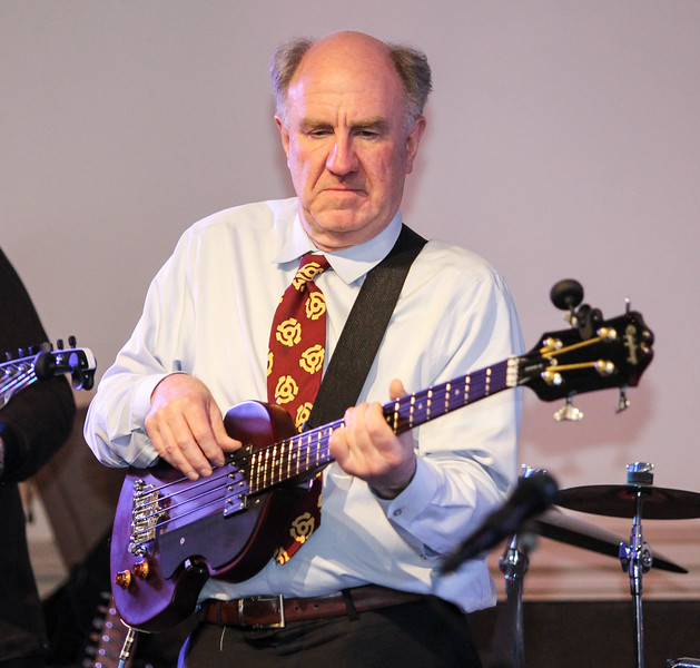 February 23, 2019: Strangers Band bass player Bob Bunlesson performs during the Winter Dinner/Dance Christmas in April event in Clinton. Photo by: Chris Thompkins/Prince George's Sentinel