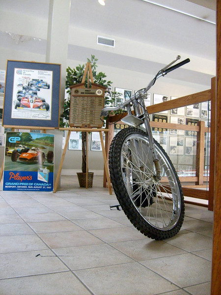 2008: Dad's (Bingley Cree)1947 Speedway Bike, now at the Canadian Motorsport Hall of Fame nr Milton Ontario:  Now on display at: http://www.cmhf.ca/