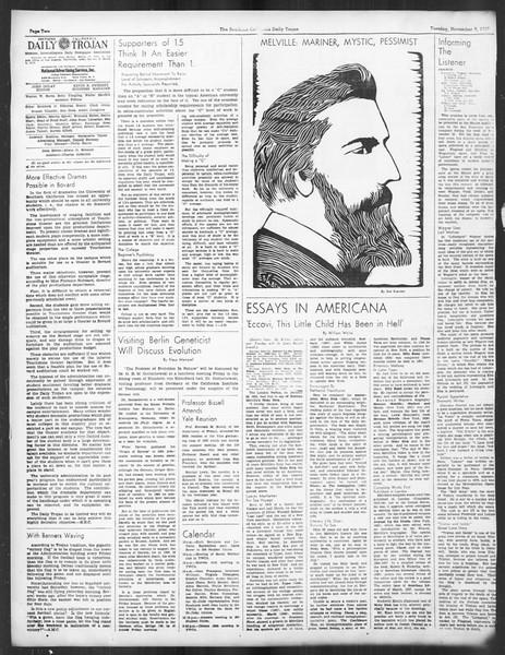 Daily Trojan, Vol. 29, No. 37, November 09, 1937
