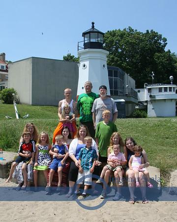 Family  at Main Street Beach on June 28, 2014
