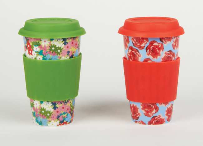 . This ceramic mug comes in handy when your coffee, tea or hot cocoa gets cold. Remove the silicone lid and sleeve, place the mug in the microwave and reheat. It\'s also dishwasher safe, making cleanup easy. DCI Eco Cup ($13.95 each) at Patina stores or patinastores.com.