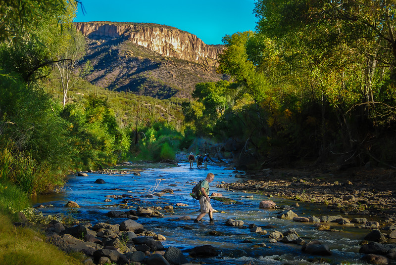 Bill Crosses Aravaipa Creek