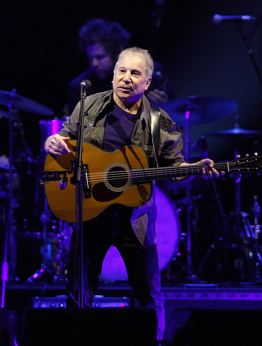 . Paul Simon performs in his On Stage Together tour with Sting at The Palace of Auburn Hills, Wednesday, Feb. 26, 2014. Photo by Ken Settle