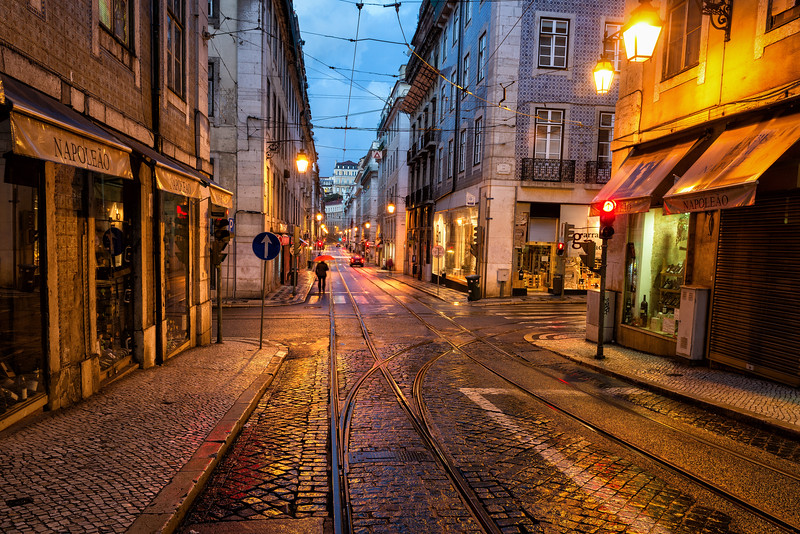 Early Morning Lisbon, After the Rain