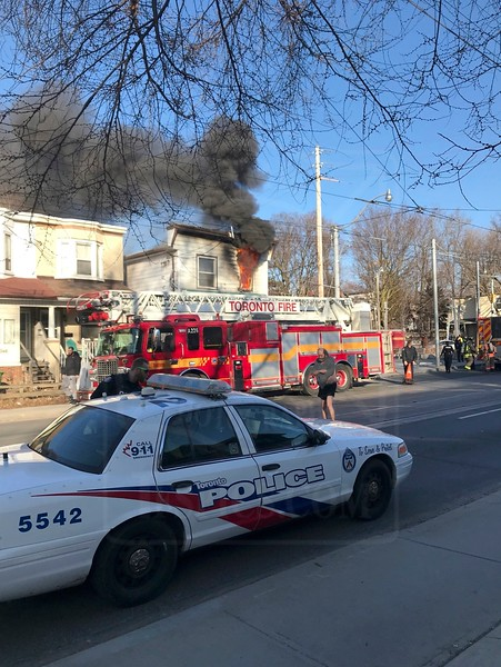 March 20, 2018 - Working Fire - 350 Coxwell Ave