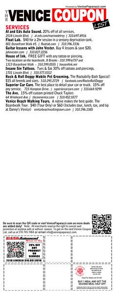Venice Coupon List.