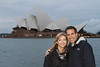 "We began our trip in Sydney, an absolutely spectacular city.  ""Here we are"" on our first night in Sydney after a tour of the Opera House."