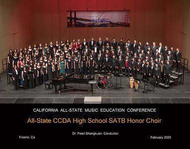 ALL STATE CCDA HIGH SCHOOL SATB HONOR CHOIR