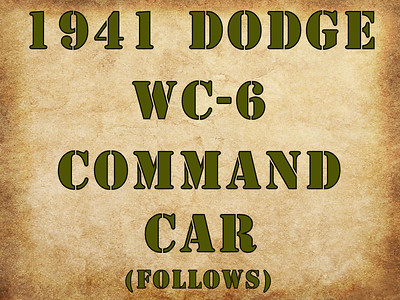 COMMAND CAR DIVIDER (NO PHOTOS)