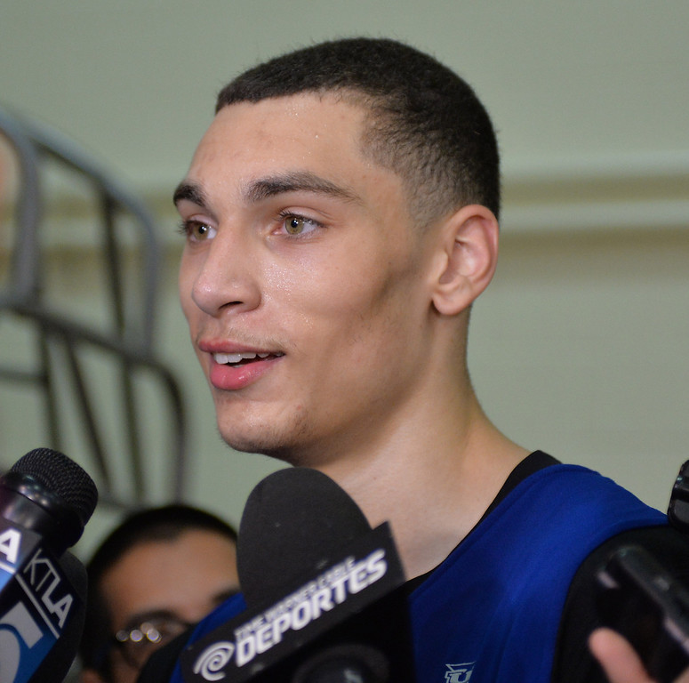 . Lakers pre-draft workout at Toyota Sports Center Wednesday June 4, 2014.  Zach LaVine, UCLA.      Photo By  Robert Casillas / Daily Breeze