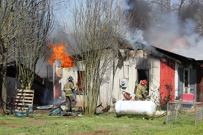 House fire scenes off of CR 3134 about 2 miles off of Hwy 7 East