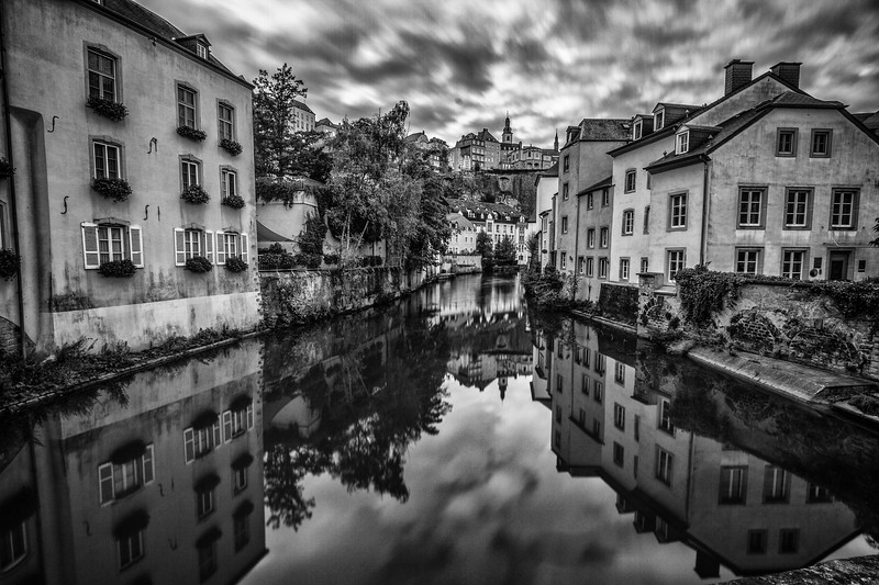 The picturesque Alzette River.